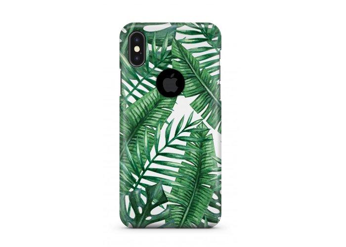 iPhone XS - Rubber Bumper Case - Jungle Mix Tropical Pattern