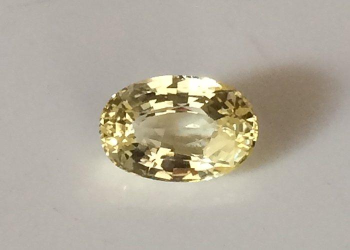 1.64 Cts Unheated Yellow Sapphire IF Certified Vivid Ceylon yellow Sapphire