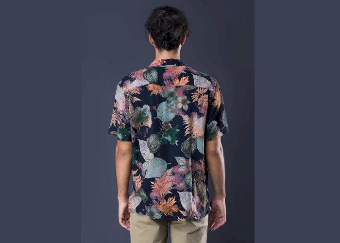 Printed Cuban Collar S/S Shirt