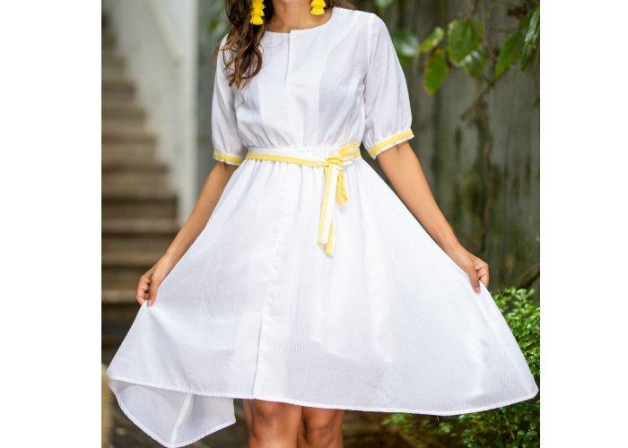 PEARL CASUAL SHORT DRESS