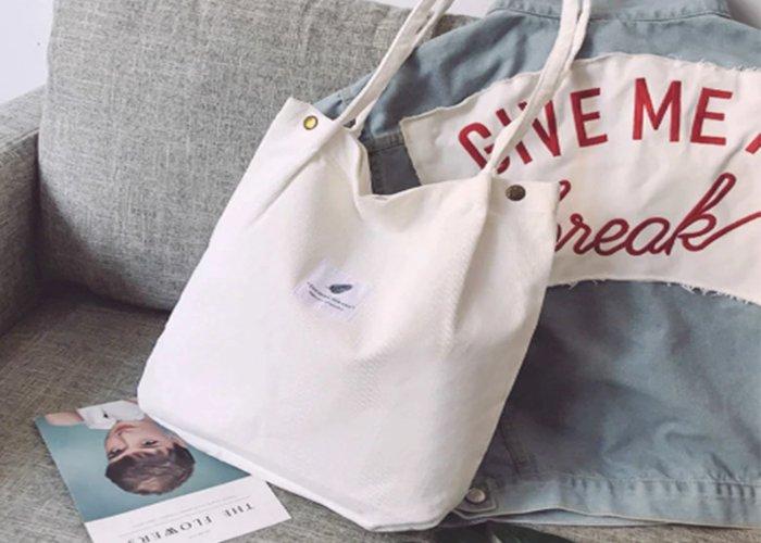 Bags for Women 2020 Corduroy Shoulder Bag Reusable Shopping Bags Casual Tote Female Handbag