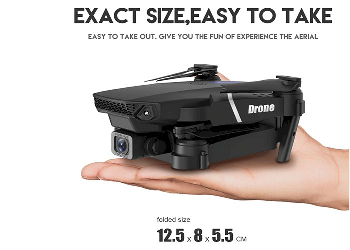 LSRC 2021 New Quadcopter Drone E525 HD 4K 1080P Camera and WiFi FPV HeightKeeping RC Foldable Quadcopter Dron Toy