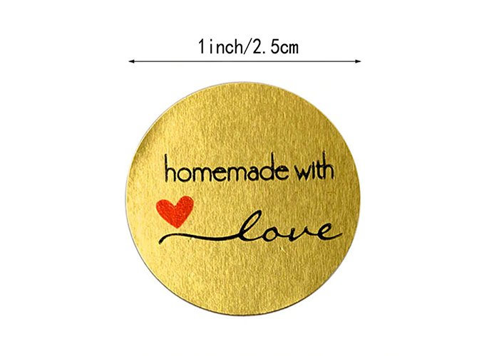 500pcs Round Natural Kraft Handmade Stickers Scrapbooking For Package Adhesive Thank You Sticker Seal Labels Stationery