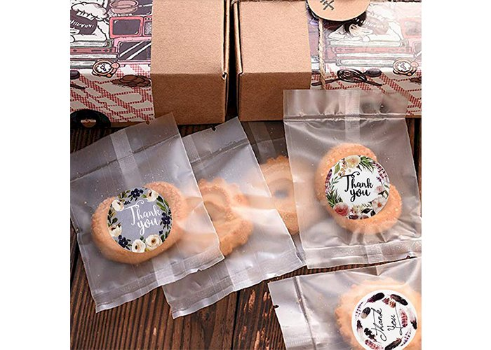 500pcs/roll Round Floral Thank You Stickers Scrapbooking For Package Seal Labels Custom Sticker Decoration Wedding Sticker