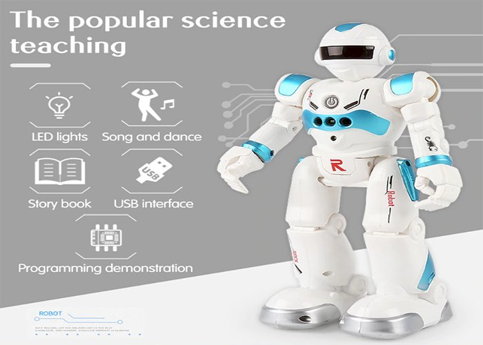 Remote Control Robot Multi-function USB Charging Children's Toy RC Robot Will Sing Dance Action Figure Gesture Sensor Robot